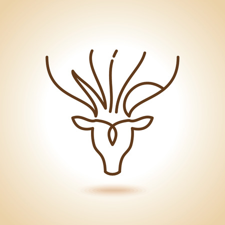 Deer Head Icon on white Background. Vector Illustration Vector