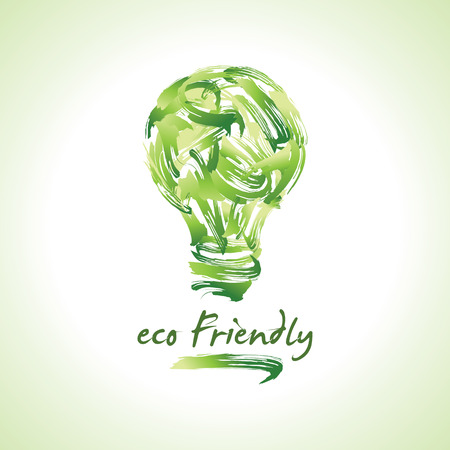 green bulb: Green bulb - Illustration