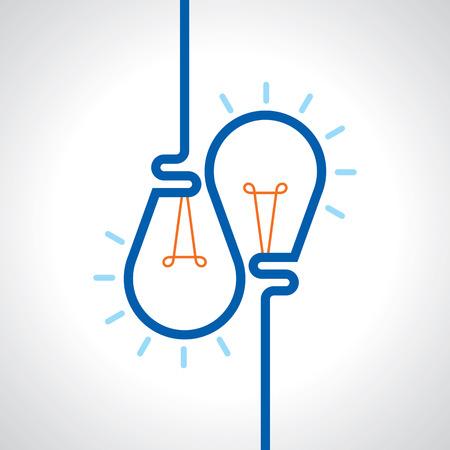 new idea: light bulb idea vector illustration