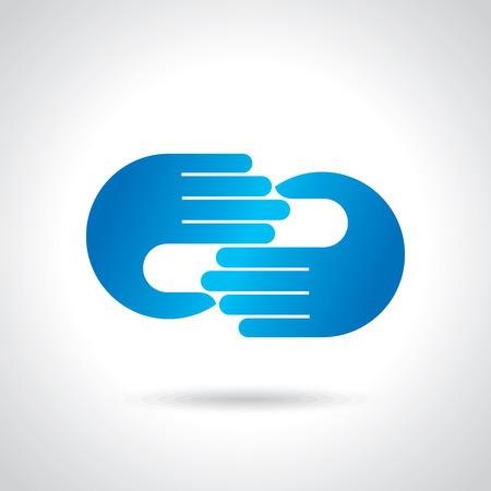 of care: creative hand icon,