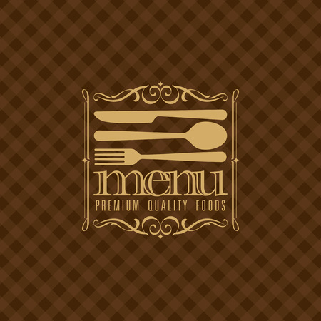 restaurant food: illustration of menu card design