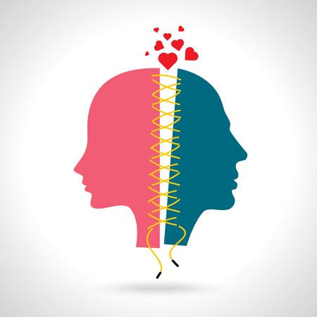 Konzept Illustration für Trennung