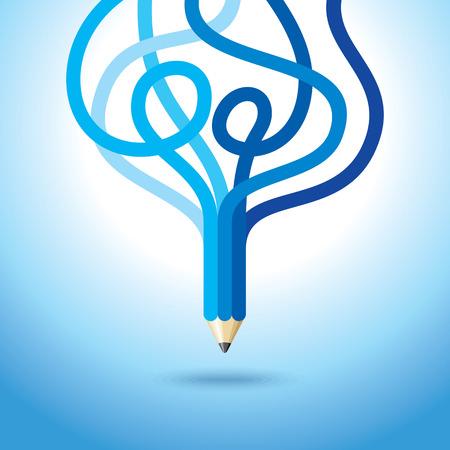 science tips: creative pencil vector