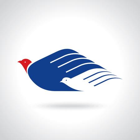 fly of bird to hand. creative freedom idea