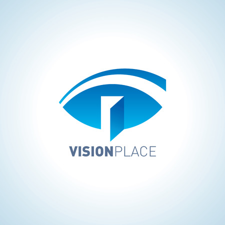 to place: idea of vision place Illustration