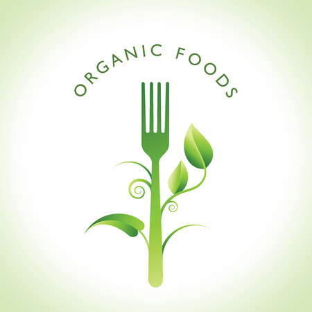Concepto de la comida orgánica Vectores