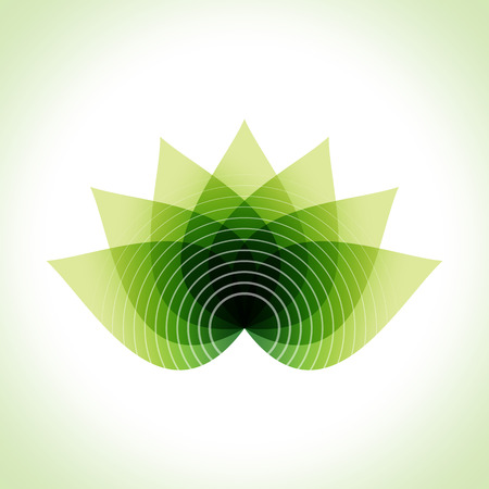 Green leaves abstract Vector illustration. Eco friendly  イラスト・ベクター素材