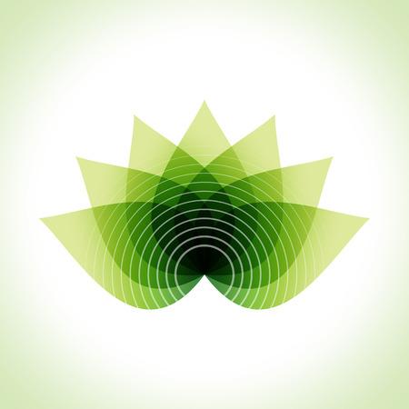 Hojas verdes ilustración vectorial abstracto. Rejuvenecimiento facial Ilustración de vector