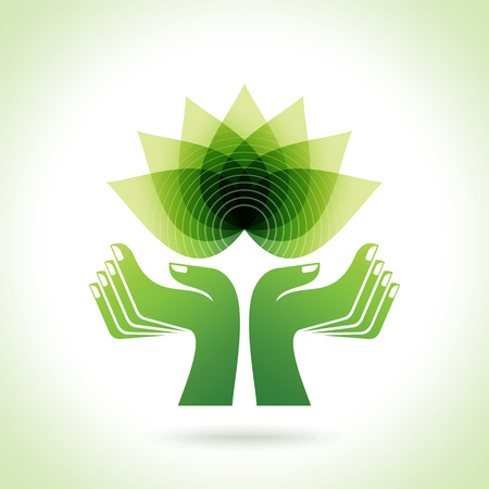 green leafs: Eco-friendly concept