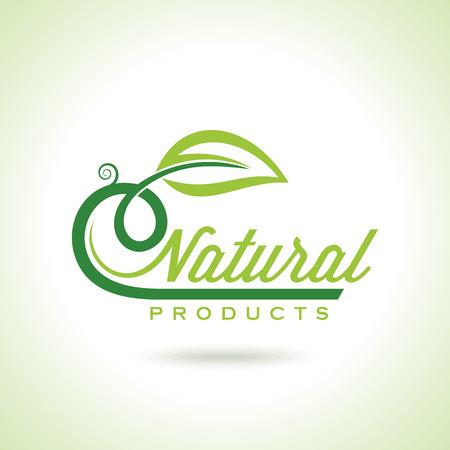有機のエコリサイクルに緑色のアイコンとラベル