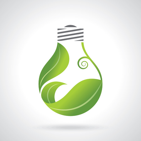 saving electricity: eco energy design vector illustration