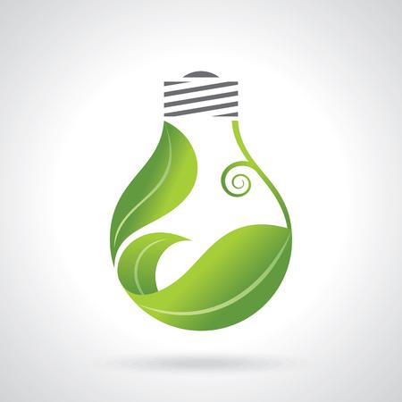 electricity icon: eco energy design vector illustration