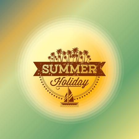 Zomervakantie illustratie zomer achtergrond