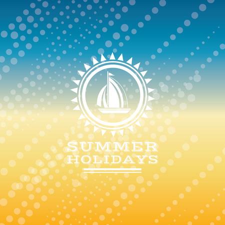 in the summer: Verano de fondo holidays ilustración verano Vectores