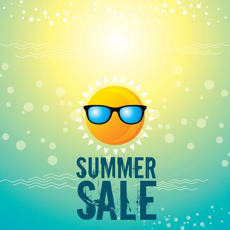 end: summer sale design template Illustration