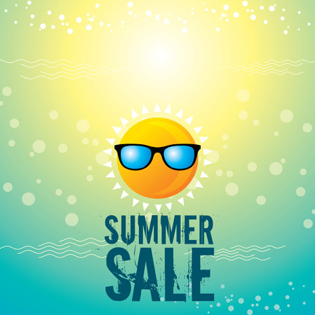 summer clothes: summer sale design template Illustration