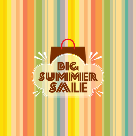 clothing tag: summer sale design template Illustration