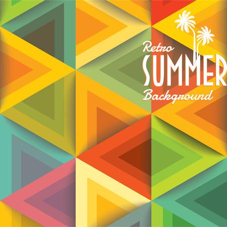 Vacanze estive illustrazione estate sfondo Archivio Fotografico - 39942673