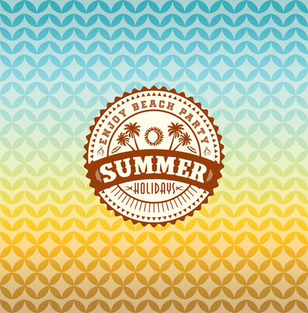 in the summer: Summer holidays illustration  summer