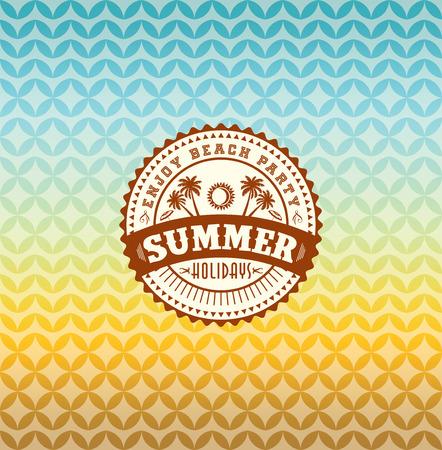 verano: Vacaciones de verano ilustraci�n verano Vectores