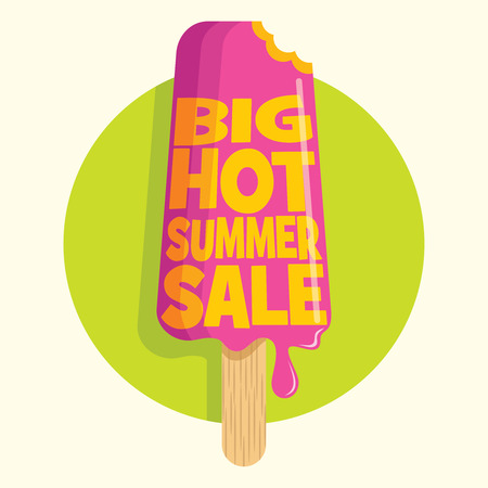 tag: Summer sale design template Illustration