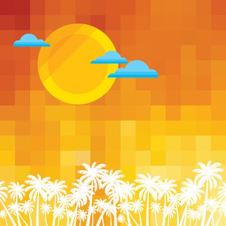 Verano de fondo holidays ilustración verano Foto de archivo - 39943091