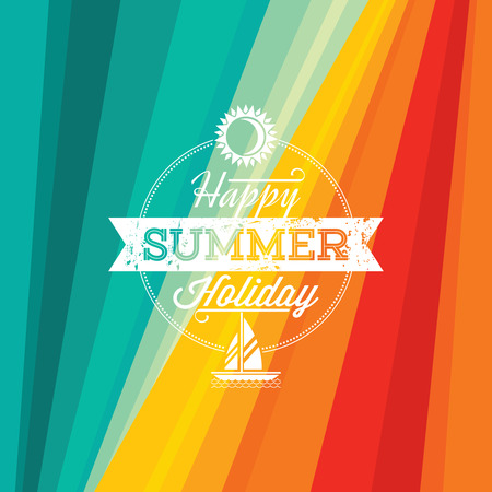holiday summer: Summer holidays illustration  summer background