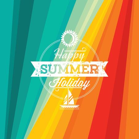 trees  summer: Verano de fondo holidays ilustraci�n verano Vectores
