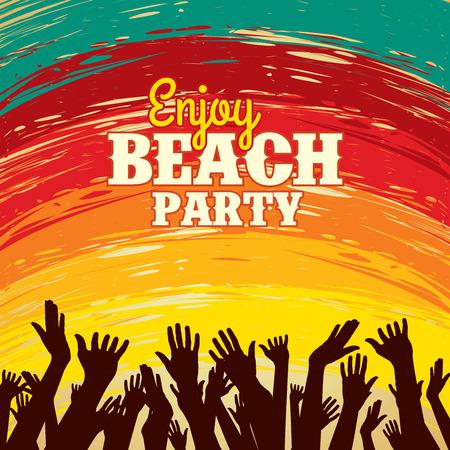 Modèle Summer Beach Party Vector Flyer Banque d'images - 39943093