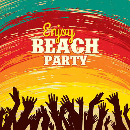 beach party: Summer Beach Party Vector Flyer Template