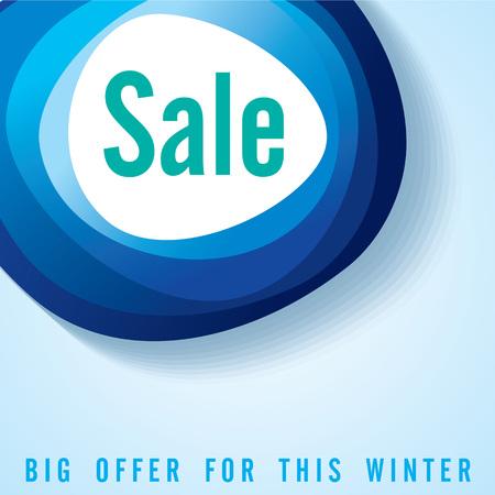 Verkoop winkelen achtergrond en label voor zakelijke promotie Stock Illustratie