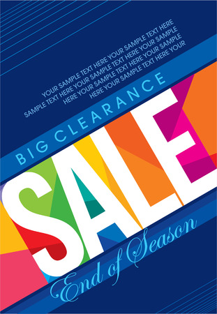 poster business: sale shopping background and label for business promotion