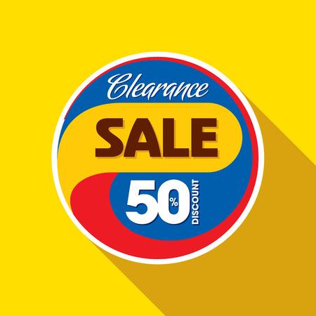 verkoop shopping achtergrond en label voor zakelijke promotie Stock Illustratie