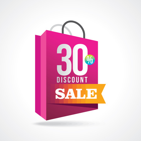 sale shopping background and label for business promotion Vector