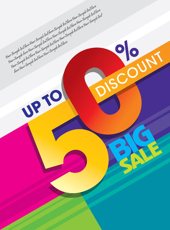 christmas savings: sale shopping background and label for business promotion