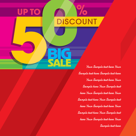 big sale: sale shopping background and label for business promotion