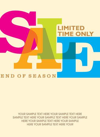 pricetag: sale design template