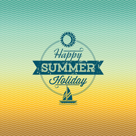 Summer holidays illustration  summer background Banco de Imagens - 39943161