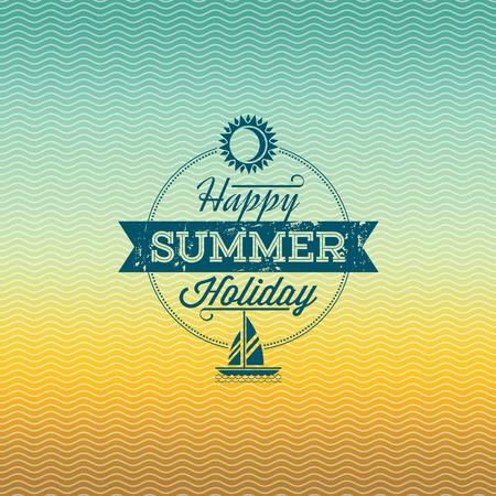 Summer holidays illustration  summer background Vector