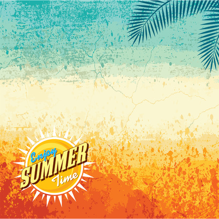 paradise beach: Summer holidays illustration  summer background