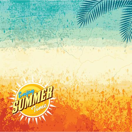 de zomer: Zomervakantie illustratie zomer achtergrond
