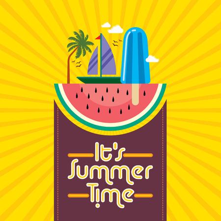 Sommerferien Illustration Sommer Hintergrund
