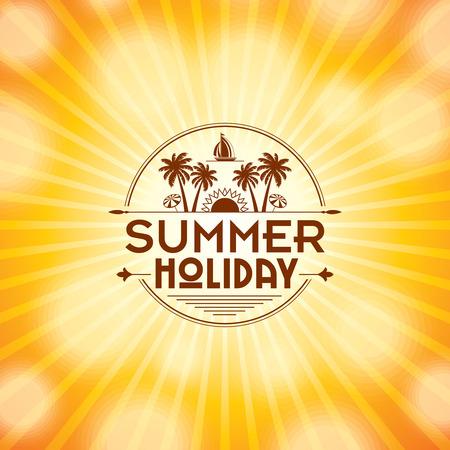 Summer holidays illustration  summer background