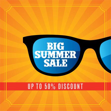 summer sale design template 일러스트