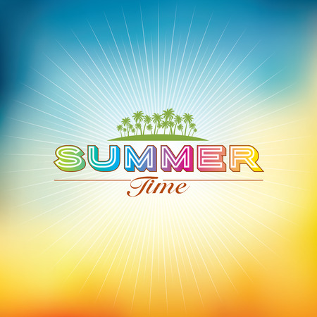 Summer holidays illustration summer background