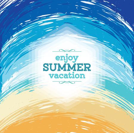 in the summer: Summer holidays illustration  summer background