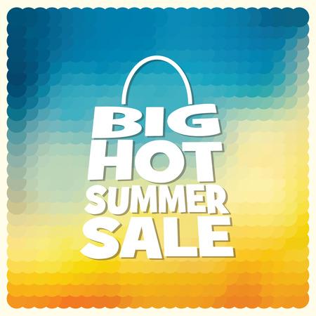 trade off: summer sale design template Illustration
