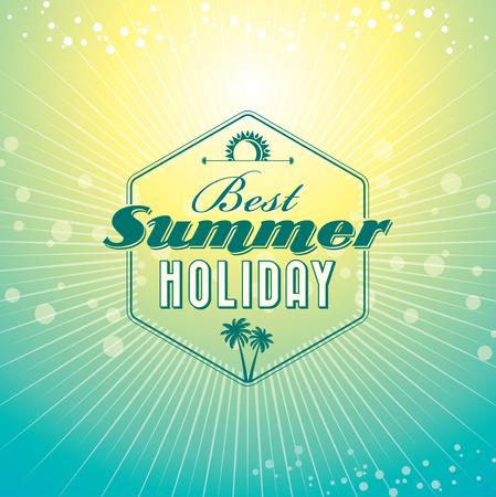 Zomervakantie illustratie zomer achtergrond Stockfoto - 39943434