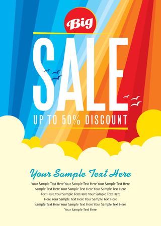 in the summer: summer sale design template Illustration