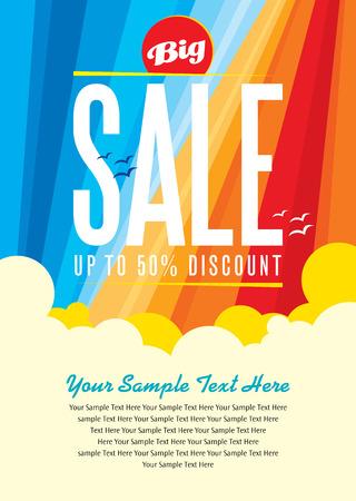 summer sale design template Stock Illustratie